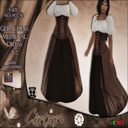 Geraldine Medieval Dress V2