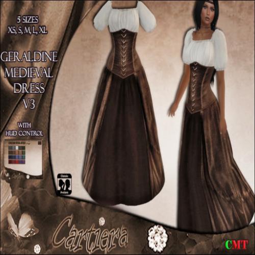 Geraldine Medieval Dress V3