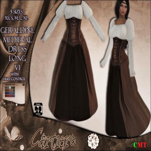 Geraldine Medieval Dress long V1