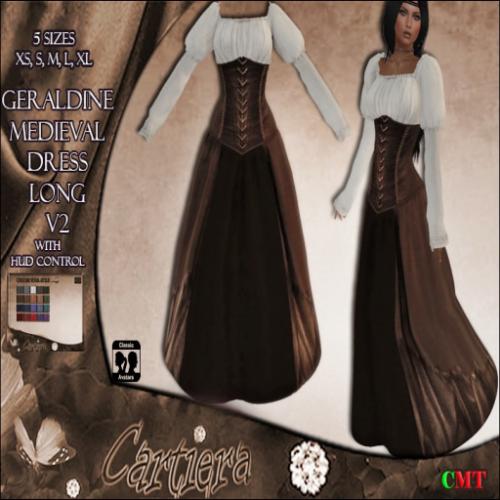 Geraldine Medieval Dress long V2