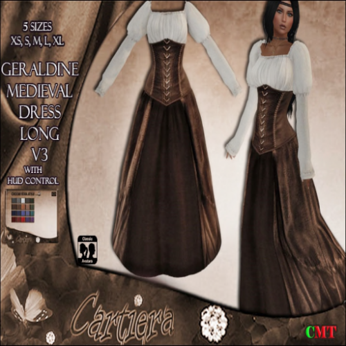 Geraldine Medieval Dress long V3