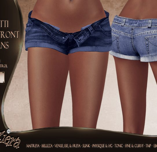 Pritti Open Front Jeans